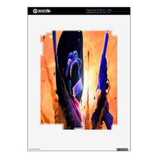 Gunslinger esquelético occidental calcomanía para el iPad 2