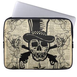 Gunslinger,Happy Skull,Guns,Roses,Gift,Teens,Rock Computer Sleeves