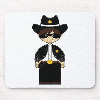 Gunslinger lindo Mousepad del vaquero