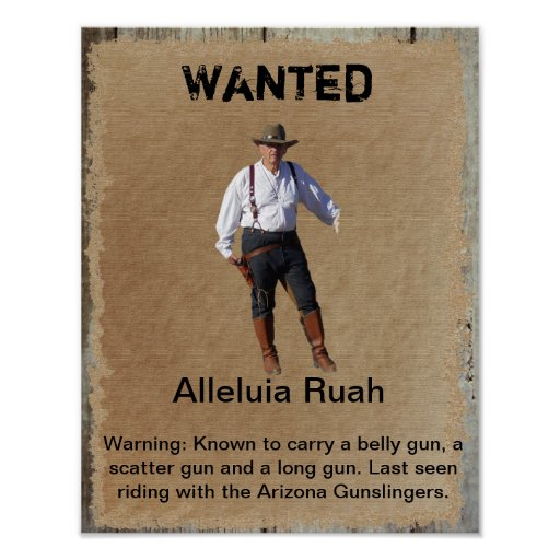 Gunslinger querido del poster del oeste