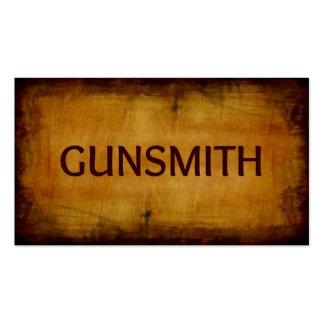 Gunsmith Antique Brushed Business Card