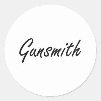 Gunsmith Artistic Job Design Classic Round Sticker