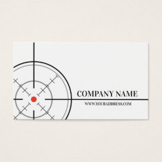 Gunsmith Shop Target White Business Card
