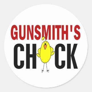 Gunsmith's Chick Classic Round Sticker