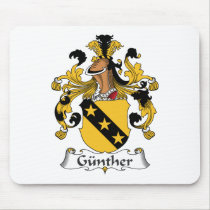 Gunther Family Crest Mousepad