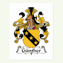 Gunther Family Crest Postcard