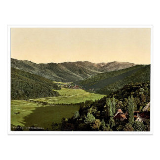 Gunther's Valley, Black Forest, Baden, Germany cla Postcard