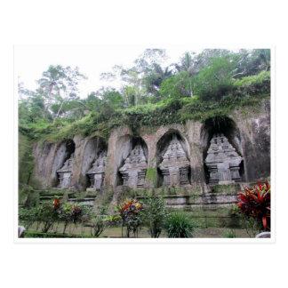 gunung kawi bali postcard