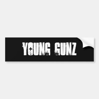 Gunz joven pegatina para auto