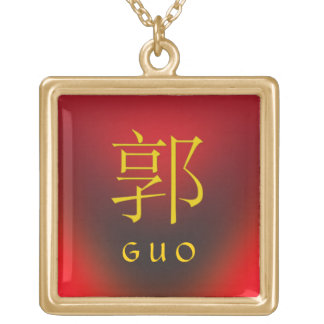 Guo Monogram Gold Plated Necklace