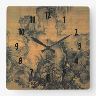 Guo Xi Early Spring Square Wall Clock