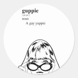 GUPPIE CLASSIC ROUND STICKER