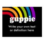 GUPPIE Definition Post Card