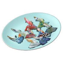 Guppies Porcelain Plate