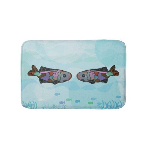 Guppy fish bath mats zazzle for Fish bath mat