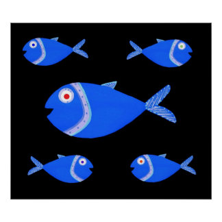 Guppy Fish Poster