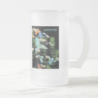 Guppy Frosted Glass Beer Mug