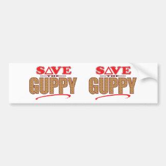 Guppy Save Bumper Sticker