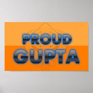 Gupta orgulloso orgullo de Gupta Impresiones