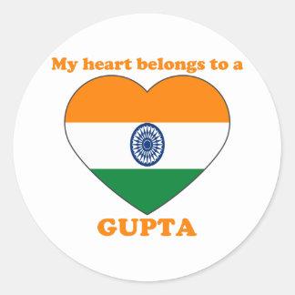 Gupta Classic Round Sticker
