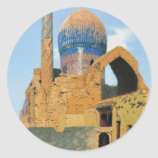 Gur Emir Mausoleum. Samarkand by Vasily Vereshchag Classic Round Sticker