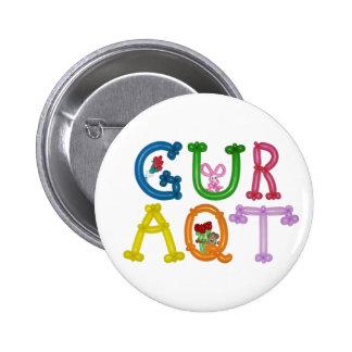 """GURAQT 4"""" botón redondo del animal del globo Pin"""