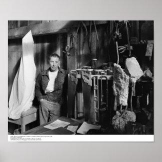 Gurdon Woods, Artist-in-residence, in his studio Poster