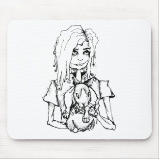 GURL AND HER BUN MOUSE PAD