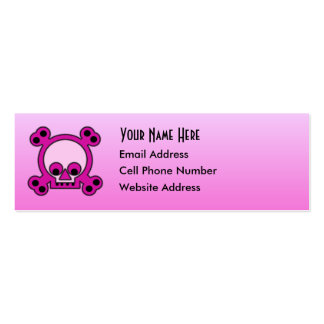 Gurly Skull Skinny Profile Card Mini Business Card