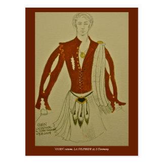 'GURN' costume for NYCB's LA SYLPHIDE Postcard