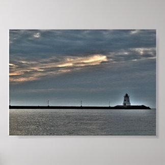 Gurnet Lighthouse Plymouth Massachusetts Poster