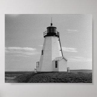 gurnet lighthouse saquish duxbury ma. poster