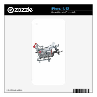 GurneyInShoppingCart092715.png Decal For iPhone 4S