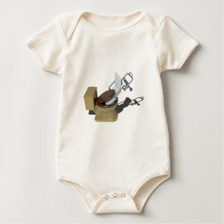 GurneyInToilet092715.png Baby Bodysuit