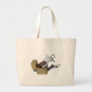 GurneyInToilet092715.png Large Tote Bag