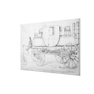 Gurney's Steam Carriage, 1827 Canvas Print