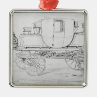 Gurney's Steam Carriage, 1827 Metal Ornament