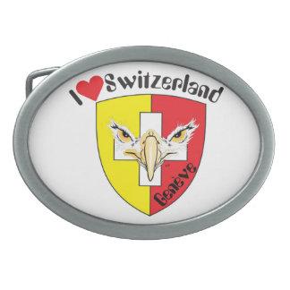 Gürtelschnalle Switzerland Suisse Svizzera Belt Buckle
