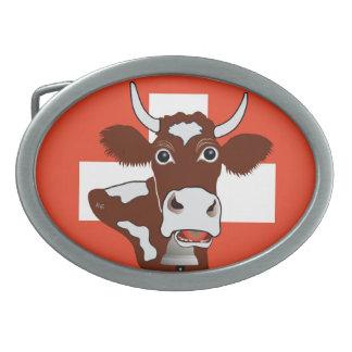 Gürtelschnalle Switzerland Suisse Svizzera Switzer Oval Belt Buckle