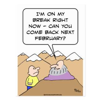 guru breack come back february postcard