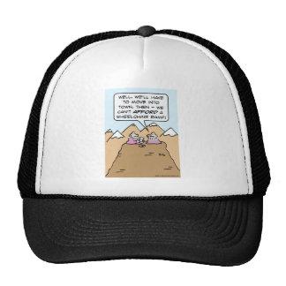 guru can't afford wheelchair ramp for mountain. trucker hat