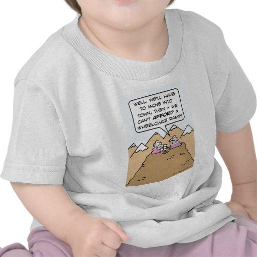 guru can't afford wheelchair ramp for mountain. tshirts