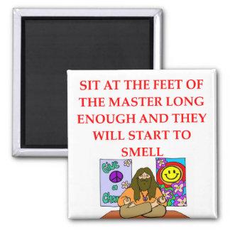 guru joke 2 inch square magnet
