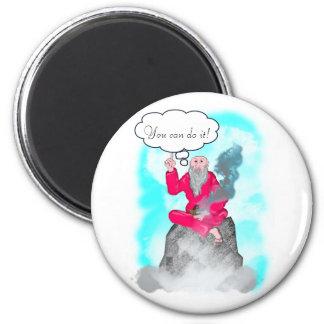 guru of the mountain 2 inch round magnet