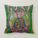 "GURU Polyester Throw Pillow 16"" x 16"" by jzebraa"