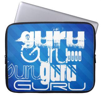 Guru; Royal Blue Stripes Computer Sleeves