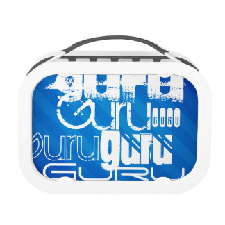 Guru; Royal Blue Stripes Yubo Lunch Box