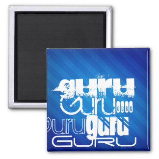 Guru; Royal Blue Stripes Refrigerator Magnets