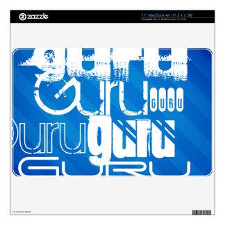 Guru; Royal Blue Stripes Skin For The MacBook Air