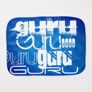 Guru; Royal Blue Stripes Baby Burp Cloths